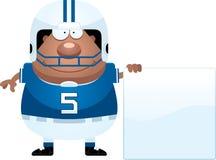 Segno del giocatore di football americano del fumetto Fotografia Stock Libera da Diritti