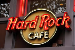 Segno del Hard Rock Cafe Immagine Stock