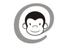Segno del Internet con la testa della scimmia Fotografia Stock