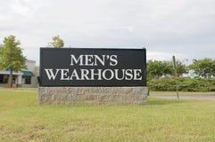 Segno del magazzino degli uomini Immagini Stock