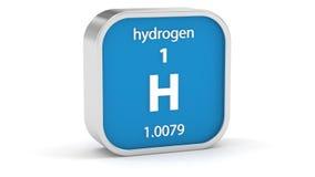 Segno del materiale dell'idrogeno illustrazione vettoriale