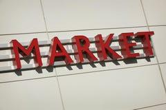 Segno del mercato Fotografia Stock