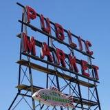 Segno del mercato del Pike Immagine Stock Libera da Diritti