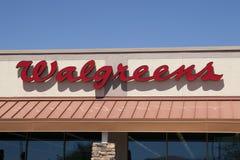 Segno del minimarket di Walgreens Fotografia Stock Libera da Diritti