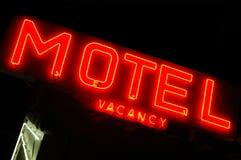 Segno del motel Fotografia Stock Libera da Diritti