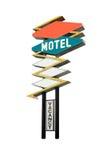 Segno del motel Fotografia Stock
