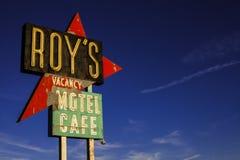 SEGNO del MOTEL di ROY ANTICO - Route 66 America Fotografie Stock