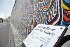 Segno del muro di Berlino Immagine Stock Libera da Diritti