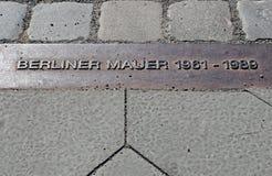 Segno del muro di Berlino Fotografie Stock Libere da Diritti