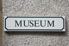Segno del museo Fotografia Stock Libera da Diritti
