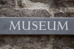 Segno del museo Immagini Stock