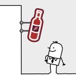 Segno del negozio & del consumatore - vino Immagini Stock
