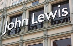 Segno del negozio del John Lewis Immagine Stock Libera da Diritti