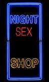 Segno del negozio del sesso fotografie stock