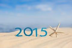 Segno del nuovo anno 2015 Fotografia Stock