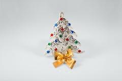 Segno del nuovo anno 2015 con il giocattolo dell'albero di hristmas del  di Ñ sopra Fotografia Stock