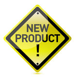 Segno del nuovo prodotto Immagine Stock