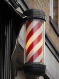 Segno del palo del barbiere immagini stock