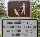 Segno del parco del cane Fotografia Stock Libera da Diritti