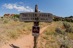 Segno del parco di Chesler Fotografie Stock