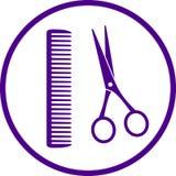 Segno del parrucchiere con le forbici illustrazione di stock