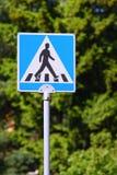 Segno del passaggio pedonale Fotografia Stock