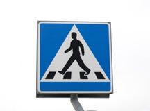 Segno del passaggio pedonale Immagini Stock Libere da Diritti