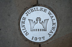 Segno del passaggio pedonale di giubileo d'argento Immagine Stock Libera da Diritti