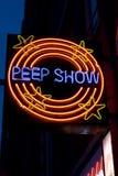 Segno del Peepshow Fotografie Stock Libere da Diritti