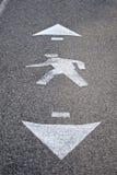 Segno del percorso ambulante Immagini Stock