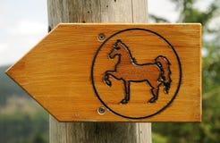 Segno del percorso del cavallo Fotografia Stock