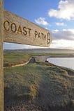 Segno del percorso della costa fotografie stock