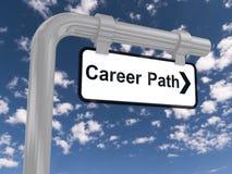 Segno del percorso di carriera Immagine Stock