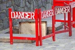 Segno del pericolo Immagini Stock Libere da Diritti