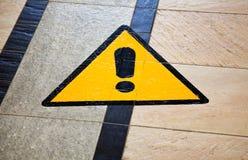 Segno del pericolo. Fotografie Stock Libere da Diritti