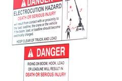 Segno del pericolo fotografia stock