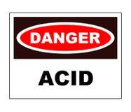 Segno del pericolo - acido Immagine Stock