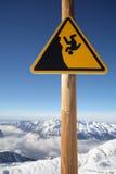 Segno del pericolo, al vostro proprio rischio Immagine Stock Libera da Diritti