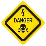 Segno del pericolo del cranio di vettore Immagine Stock Libera da Diritti