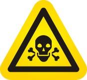 Segno del pericolo del cranio di vettore Fotografia Stock