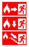 Segno del pericolo del fuoco Immagini Stock Libere da Diritti