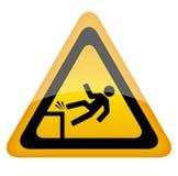 Segno del pericolo di caduta Immagine Stock