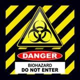 Segno del pericolo di rischio biologico Immagine Stock