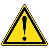 Segno del pericolo, segnale di pericolo, segno di attenzione Icona d'avvertimento di attenzione del pericolo Fotografie Stock