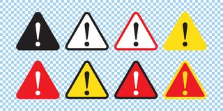 Segno del pericolo, segnale di pericolo, segno di attenzione Icona del pericolo, icona d'avvertimento, icona di attenzione illustrazione vettoriale