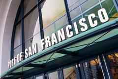 Segno del porto di San Francisco Fotografia Stock