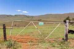 Segno del portone dell'azienda agricola nessun Fotografia Stock
