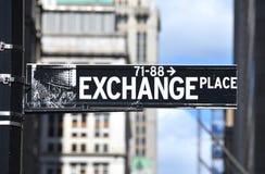 Segno del posto di scambio Immagine Stock