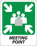 Segno del punto di riunione Fotografia Stock