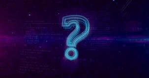Segno del punto interrogativo su fondo digitale illustrazione di stock